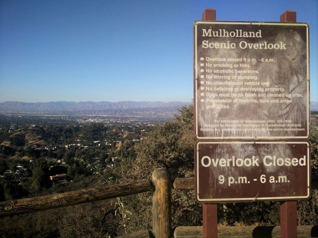 Viewpoint on Mulholland Drive