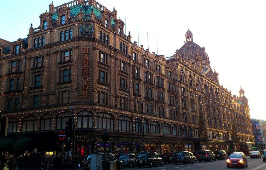 Harrods at Christmas time