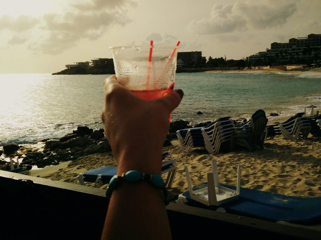 Sundowner on Maho Beach