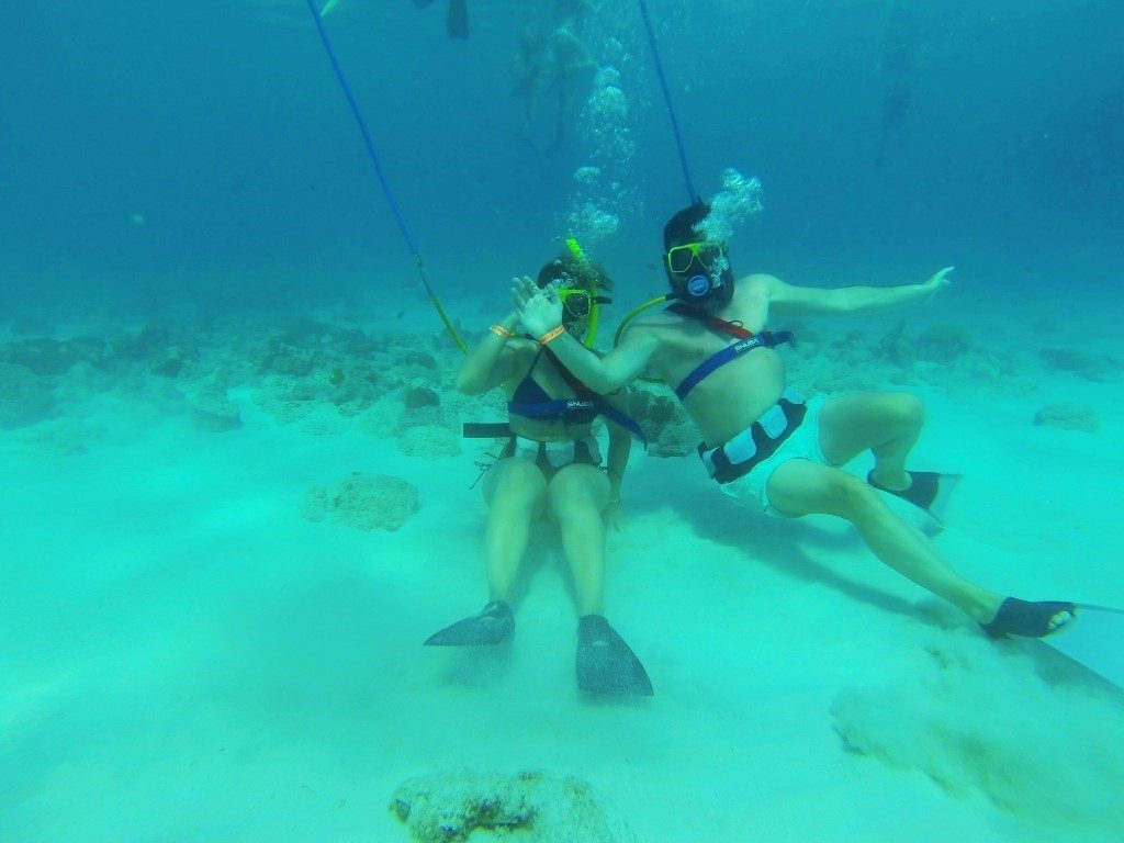 Katrin and Christian |  Aruba Snuba Diving excursion