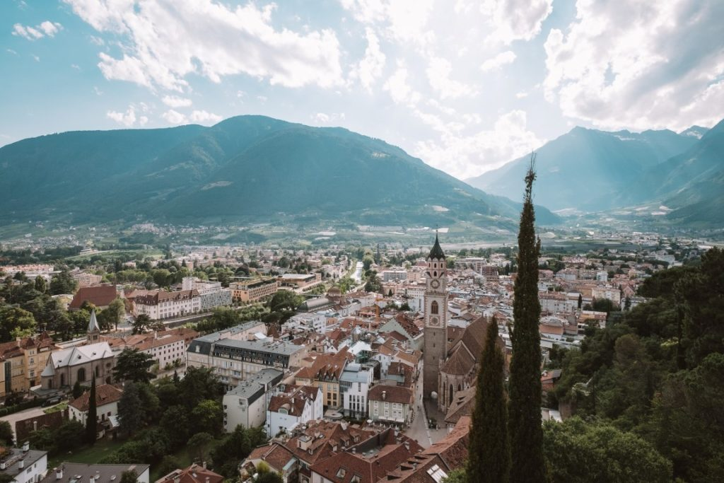 View of the old town of Merano